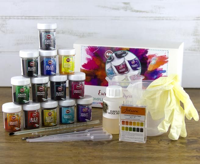 Syrafärger till garnfärgning Oeko-Tex (kit)